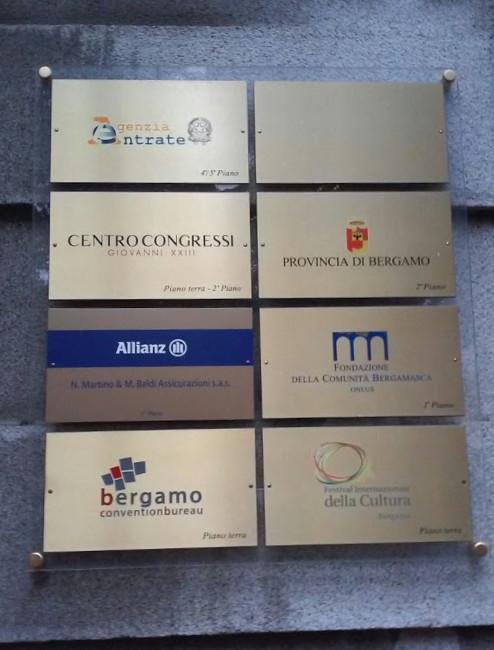 Branding - Targhe - Centro Congressi