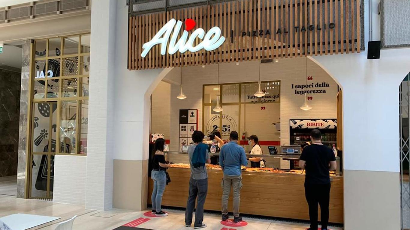 Insegna - Alice pizza