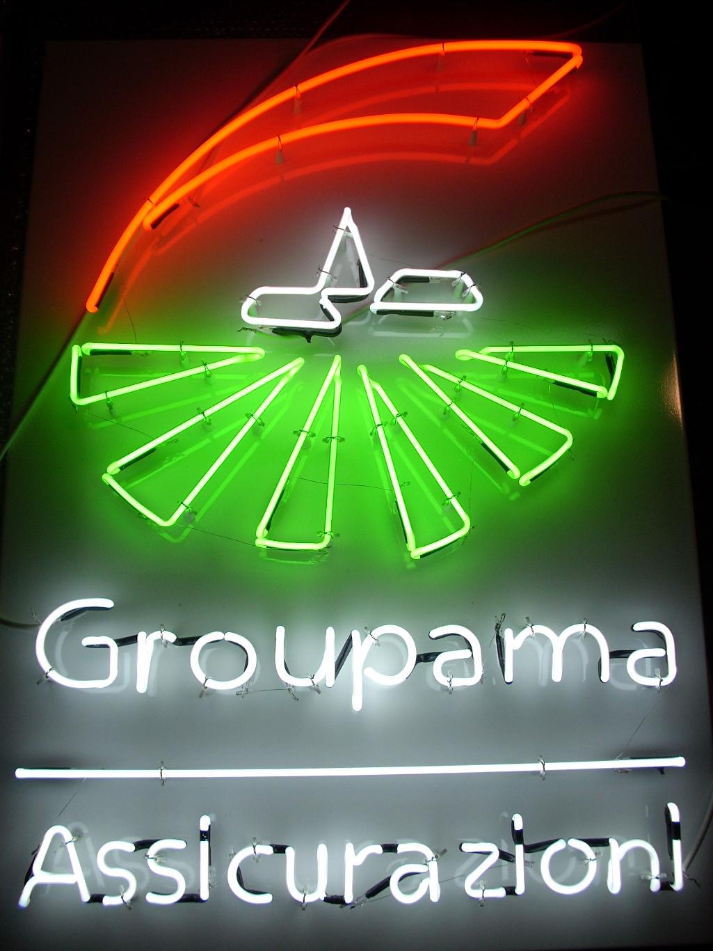 Insegna neon - Groupama
